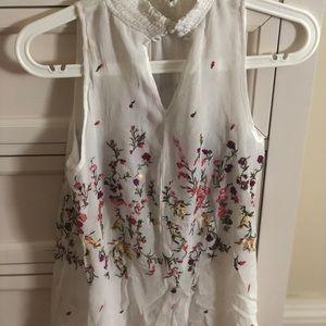 Anthropologie sleeveless blouse S